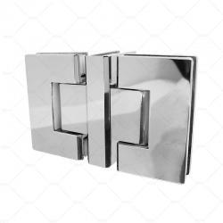 Двойная петля стекло-стекло-стекло 90° RGW A-3101CP, хром, сталь_0