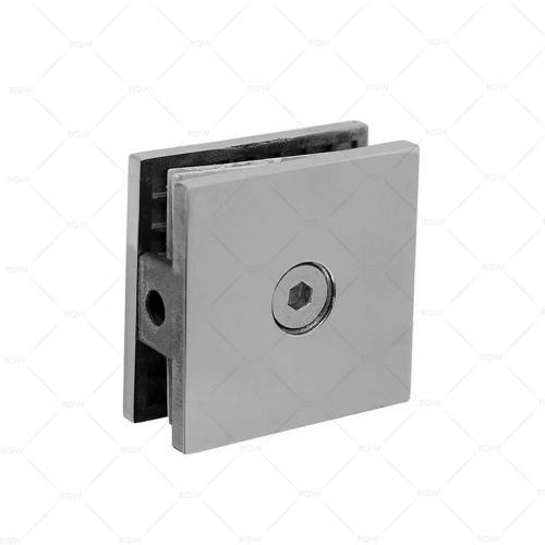 RGW F-1101CP коннектор стекло-стена точечный 90°, латунь
