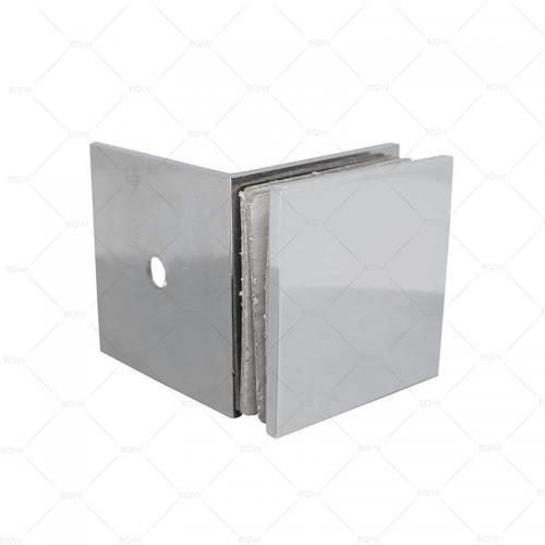 RGW F-1110CP коннектор стекло-стена 90°, латунь хромированная