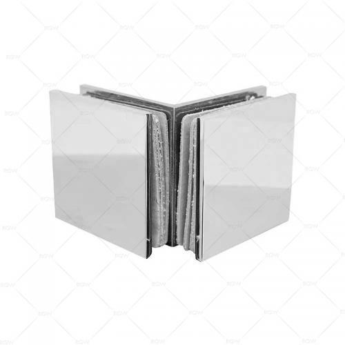 RGW F-2101CP коннектор стекло-стекло 90°, хромированная латунь