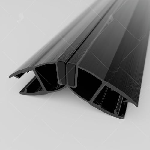 Магнитный профиль ПВХ RGW M-3016B, 135°/180°, cтекло 6 мм, 2200 мм