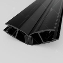 Магнитный профиль ПВХ RGW M-3010B, 135°/180°, стекло 10 мм, 2200 мм_0