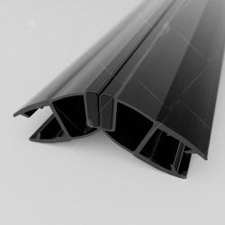 Магнитный профиль ПВХ RGW M-3010B, 135°/180°, стекло 10 мм, 2200 мм_1