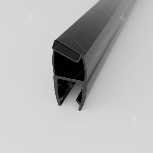 Магнитный профиль ПВХ RGW M-3010B, 135°/180°, стекло 10 мм, 2200 мм